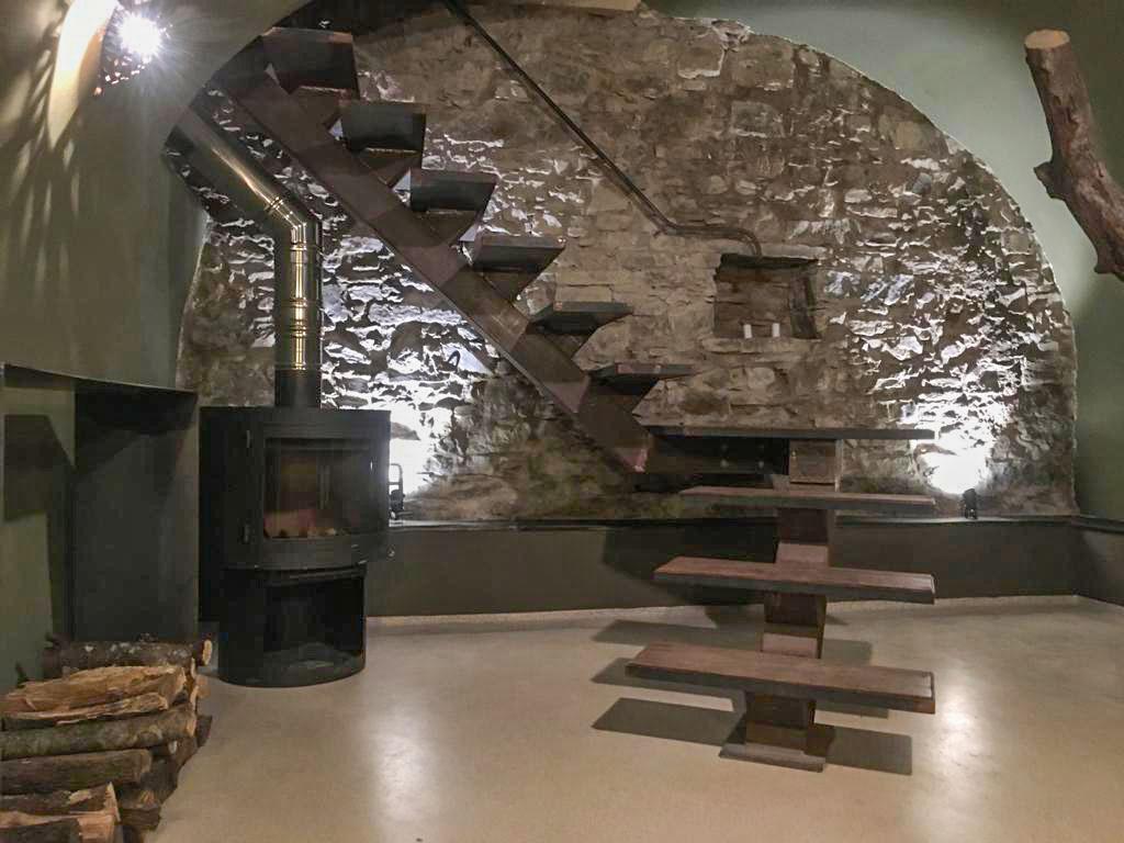 ilwokini masterhouse bad ofen und Treppe Ferienhaus Italien